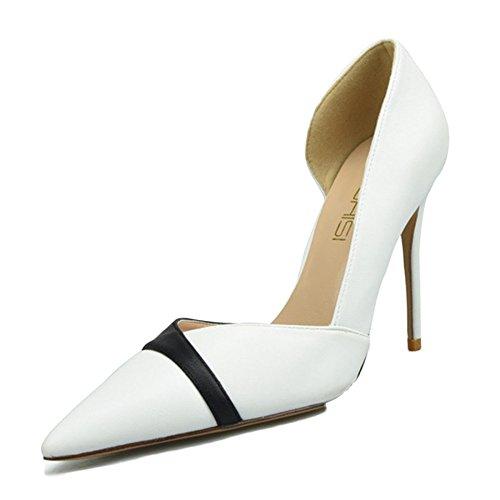 De Mat Chaussures High 10cm Petite Clubbing Heel Chaussures 33 Pointu Taille White Travail Stiletto Femmes snfgoij Sexy YwvqTxf