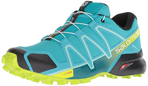 Salomon Women's Speedcross 4 W Trail Running Shoe, Bluebird/Acid Lime/Black, 5.5 B US by Salomon (Image #1)