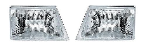 (98 99 00 Ford Ranger Headlamp Headlight Pair Set Driver and Passenger)