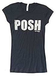 The Spice Girls Posh Glitter Logo Girls Juniors Black T Shirt L