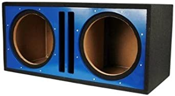 Absolute USA PDEB12BL Dual 12-Inch 3//4-Inch MDF Twin Port Subwoofer Enclosure with Blue High Gloss Face Board