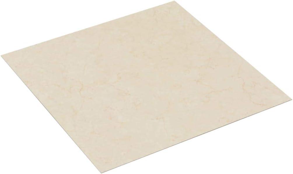 Tidyard PVC Laminat Dielen Selbstklebend rutschfest Wasserfest Vinylboden Bodenbelag Designboden Vinyl Boden Dielen Planken 5,11m/² Beige