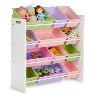Honey-Can-Do Kids Storage Organizer with 12 Bins in White