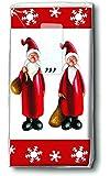 10 bedruckte Taschentücher Santa Claus 21 x 21cm