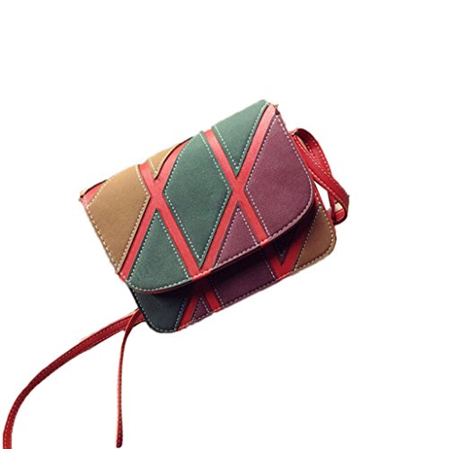 Crossbody Red Handbags Bags Shoulder Retro Inkach Leather Small Bag Womens UgZFZndp