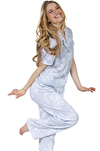 Cozy and Curious Women's Soft Cotton Tailored Pajamas (Set of 2) (Large, Hill Gray) by Cozy & Curious (Image #1)
