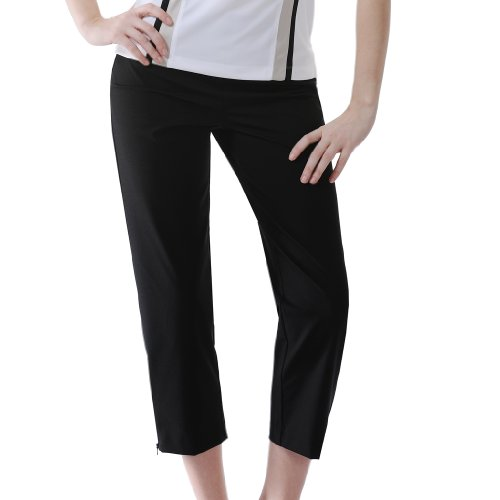Monterey Club Ladies Stretchable Pull On Capri #2871 (Black, Size:8)