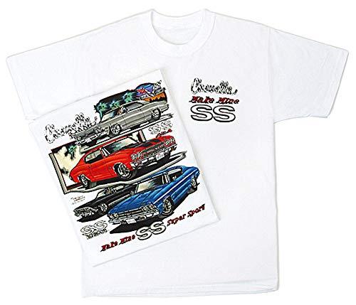 A&E Designs Chevy Chevelle SS Hotrod Muscle Car T-shirt, 2XL White