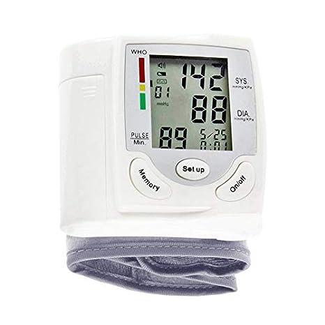 Nowakk Auto LCD Digital Brazo Superior medidor de presión Arterial muñeca BP Home Heart Beat Monitor de Pulso con Manguito Instrumento de Cuidado de la ...