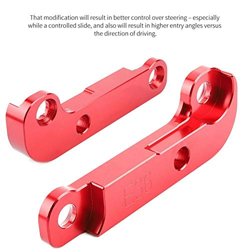 Value-5-Star - Axle Parts Aluminium Red Adapter Increasing Steering Angle About 25% Drift Lock Kit for E36 accessoire voiture