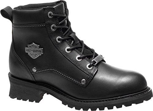 Harley-Davidson Men's Bozeman 5.25-Inch Black Leather Motorcycle Boots D96156
