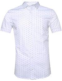 Men's Fashion Printing Casual Button Down Short Sleeve Shirts