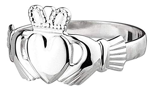 - Failte Claddagh Ring Ladies Medium Standard Sterling Silver Size 5.5