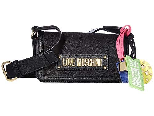 LOVE Moschino Women's Jacquard Crossbody Bag Black One Size ()