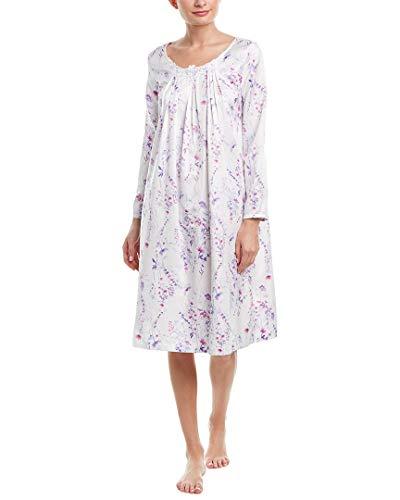 (Carole Hochman Women's Brushed Back Satin Waltz Gown, Stripe Ditsy Floral,)