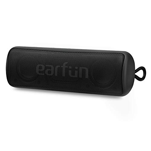 EarFun Go Portable Bluetooth Speaker V5.0, IPX7 Waterproof Wireless Speaker with Rich Bass, 24-Hour Playtime, 100 Feet Wireless Range, Built-in Mic, Perfect for Travel, Home and Outdoors