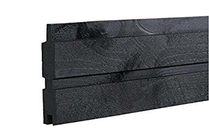 Wandplank 15 Cm.Plus 17760 Plank 15 Plus Profile Board 25x140 Mm X177 Cm Black
