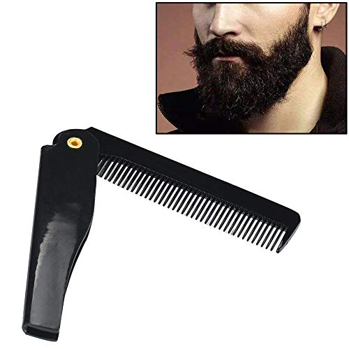 Iulove Hairdressing Beauty Folding Beard and Beard Comb Beauty Tools for Men