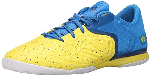 adidas Performance Men's X 15.2 CT Soccer Shoe,Yellow/Shock Blue/Equipment Blue,9 M US
