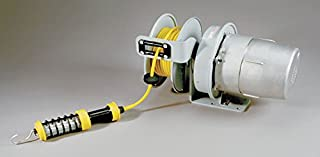product image for KH Industries RTS Series ReelTuff Explosion Proof Retractable Power Cord Reel with Class I Division 1 Hand Lamp Prewired, 16/3 SOOW Cable, 10 Amp, 50' Length, Gray Powder Coat Finish