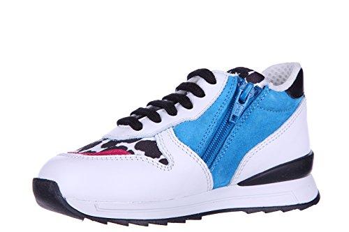 Hogan Rebel chaussures baskets sneakers enfant filles en cuir neuves r 261 anima