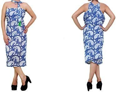 Multi Way Sarong Beach Cover Up écharpe avec pampilles couleurs diverses