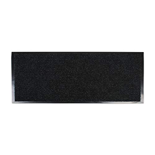 J&M Home Fashions Heavy Duty Outdoor/Indoor Doormat, 22x60, Charcoal Black Utility Mat (Doormats Long)