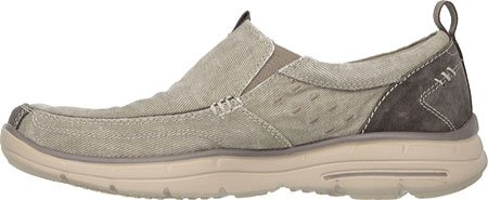 Skechers Heren Relaxed Fit Glides - Benideck Kaki