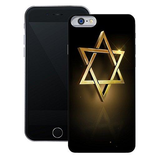 Davidstern | Handgefertigt | iPhone 6 6s (4,7') | Schwarze Hülle