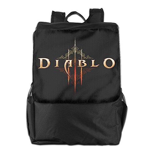 [ARPG Diablo 3 Fathom Studios Logo Outdoor Backpack Travel Bag] (Diablo Reaper Of Souls Costume)