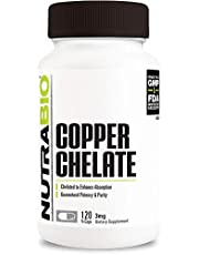 NutraBio Copper Chelate (3 Mg) - 120 Vegetable Capsules 120 count