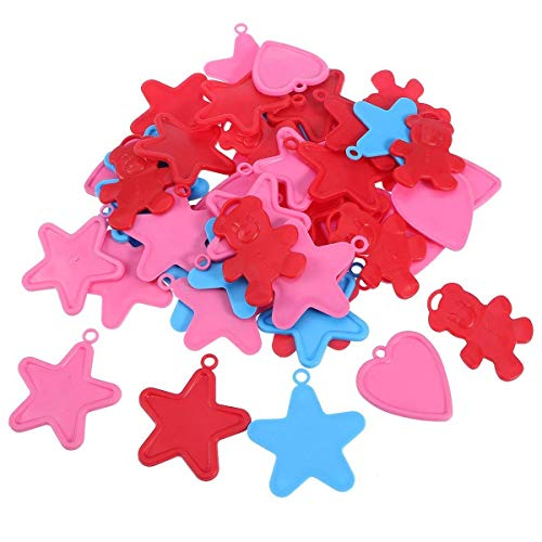 - YChoice Toyvian 50pcs Plastic Heart Star Balloon Weights Creative Bear Hanging Ornament Simple Design for Home Decoration