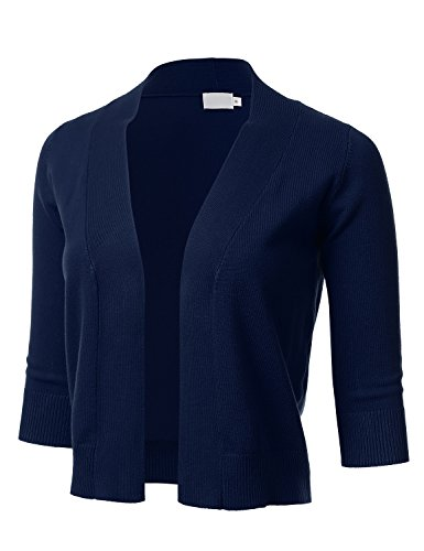 FLORIA Womens Classic Cropped Cardigan product image