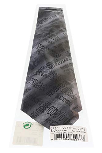Roberto Cavalli ESZ022 D0060 Black//Grey Ikat Tie for Mens