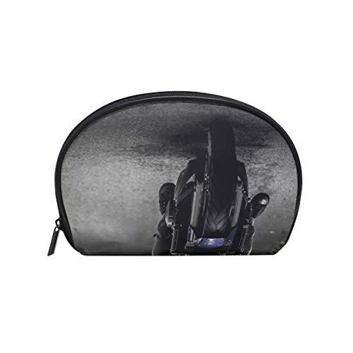 Makeup Cosmetic Bag Biker Motorcycle Ride Vehicle Road with -