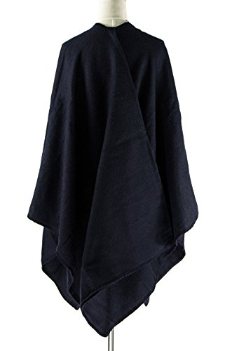 ManuMar - Poncho - para mujer azul oscuro