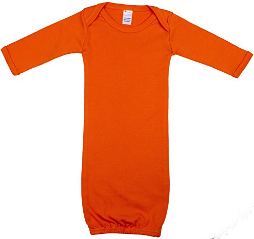 Earth Elements Baby Long Sleeve Gown 0-3 Months Orange]()