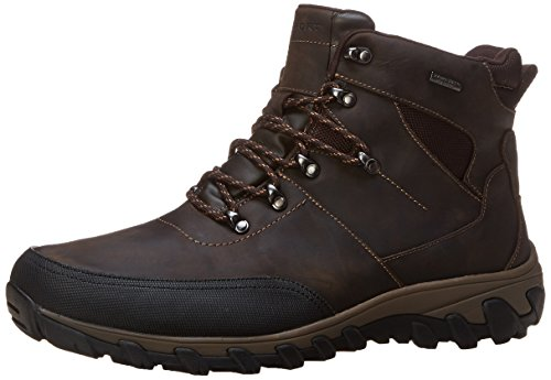 Rockport Men's Cold Springs Plus Mudguard Boot - Speed Lace Dark Brown Oiled Leather 8 W (EE)-8 W ()