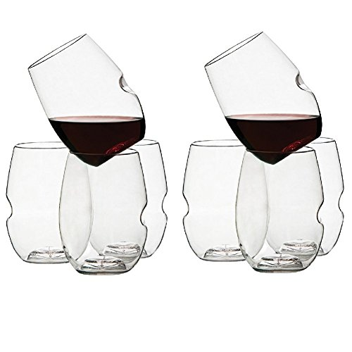 Govino 12 Ounce Dishwasher Safe Series Wine/Cocktail Glasses (8-Pack)