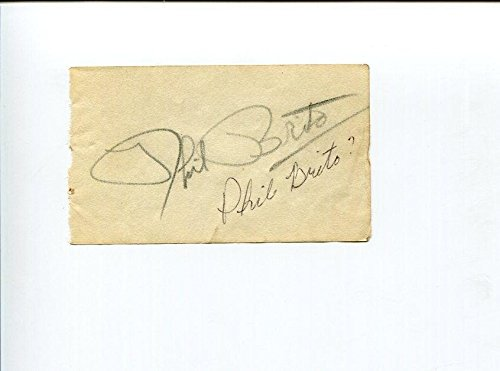Phil Brito Jazz Music Man I Could Swear It Was You Big Band Signed Autograph from Hollywood Memorabilia