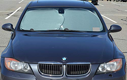 EcoNour Car Windshield Sun Shade - Blocks UV Rays Sun Visor Protector, Sunshade to Keep Your Vehicle Cool and Damage Free,Easy to Use, Fits Windshields of Various Sizes (Classic 59 x 27.55 inches)