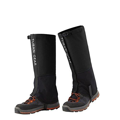 KUYOU Leg Gaiters Waterproof Snow Legging Mountain Hiking Hunting Skiing Boot Gaiters 500D High Leg Cover for Men Women (Black- ()