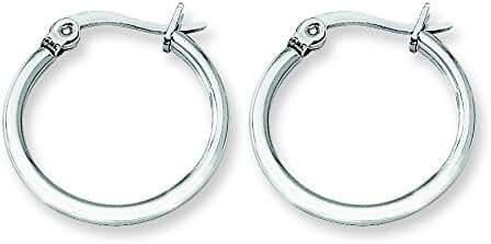 Stainless Steel 19.50mm Diameter Hoop Earrings