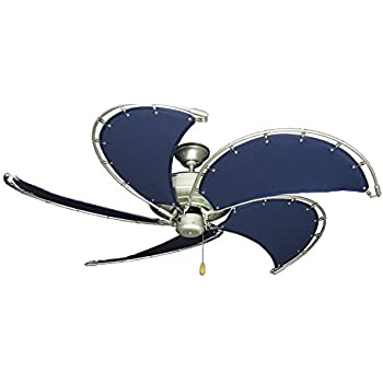 nautical ceiling fans canvas raindance nautical ceiling fan in brushed nickel with 52