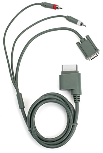 Microsoft Xbox 360 VGA HD AV Cable - VGA - 8 ft for Xbox 360 (Certified Refurbished)