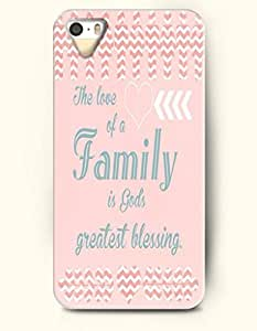 iPhone 5 / 5s Case The Love Of A Family Is Gods Greatest Blessing - - Hard Back Plastic Case - SevenArc Authentic...