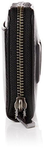 DKNY Large Zip Around, Cartera de Mano para Mujer, 2.54x10x19 cm (W x H x L) Negro (Black)