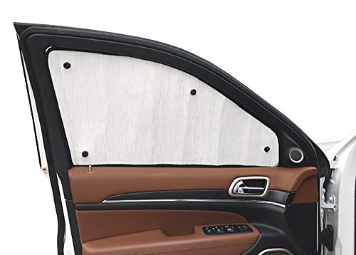 (AutoHeatshield Side Window Front Seat Set/2 Sunshades for Ford Full-Size Transit Van with MED/HIGH Roof 2014 2015 2016 2017 2018 2019)