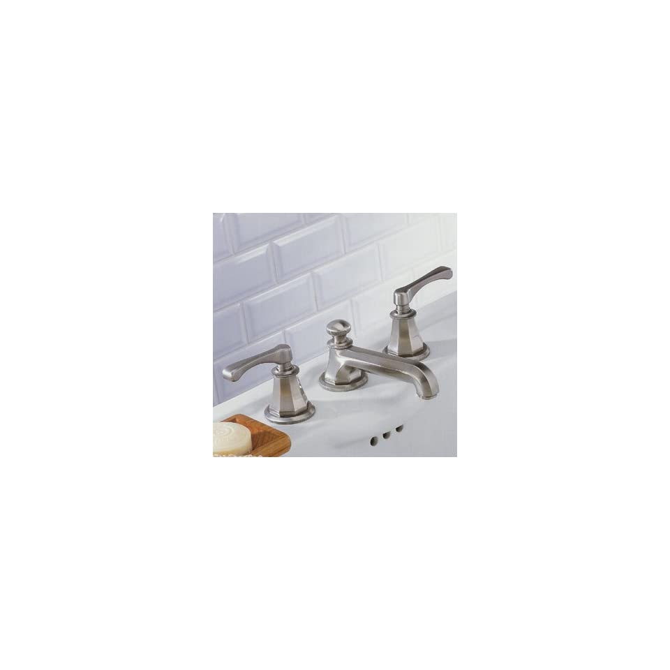 THG 151/US A55 A02 Polished Chrome Bathroom Sink Faucets 8 Lever Widespread Lavatory Faucet