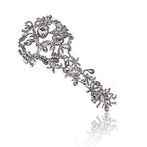 - Sunshinesmile Rhinestone Bracelet Arm Chain Wedding Bridal Jewelry